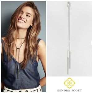 Kendra Scott Phara Matte Lariat White Necklace